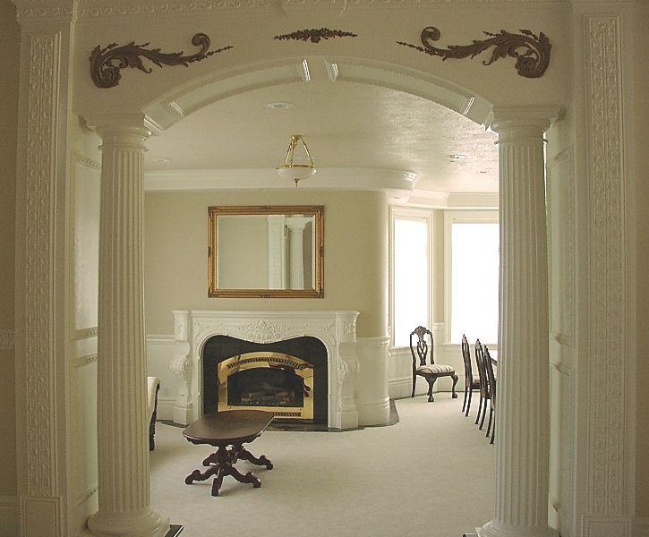 Decorative Half Round Columns