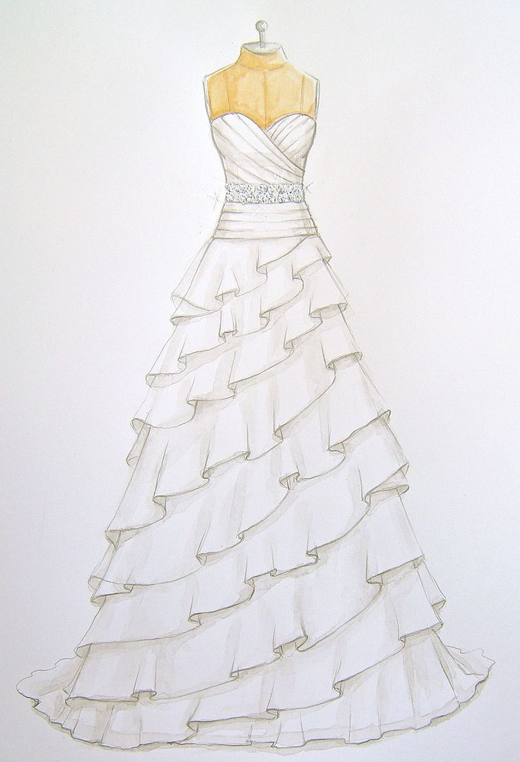 Fashion Sketches Of A Baby Blue Prom Dress