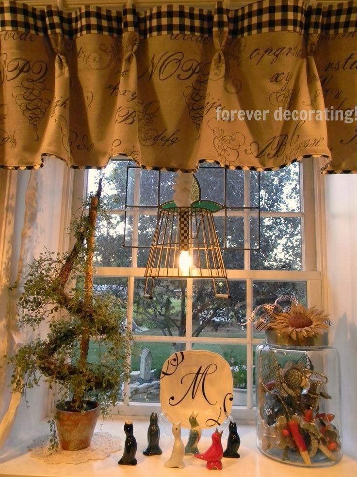 Rustic Burlap Window Treatments