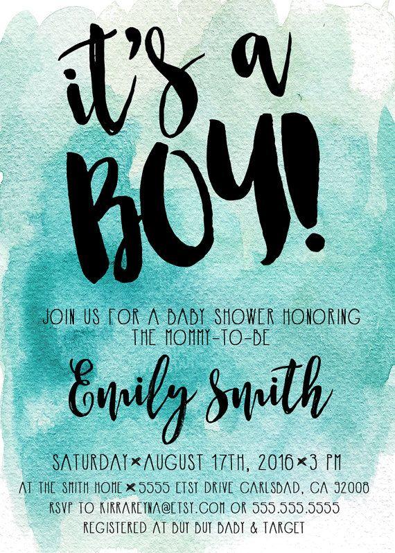 Unique Boy Baby Shower Invitations