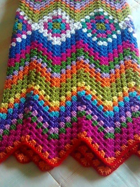 Knit Zig Zag Ripple Afghan