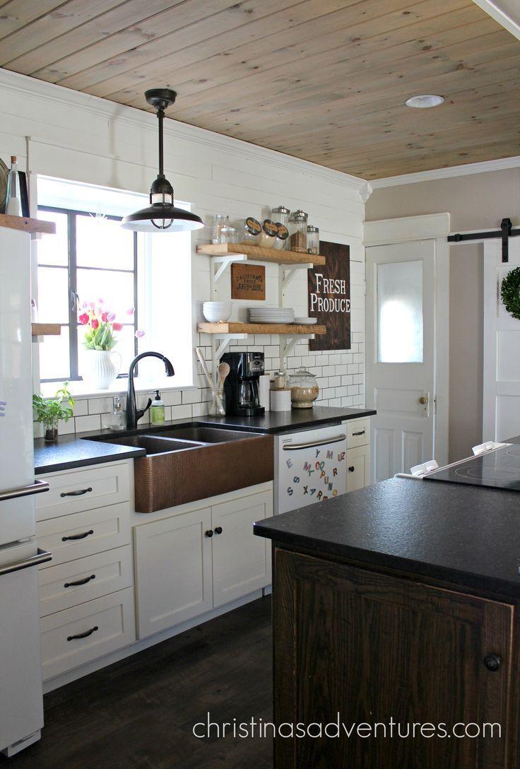 Our Copper Sink Black Granite Countertops And Black Granite