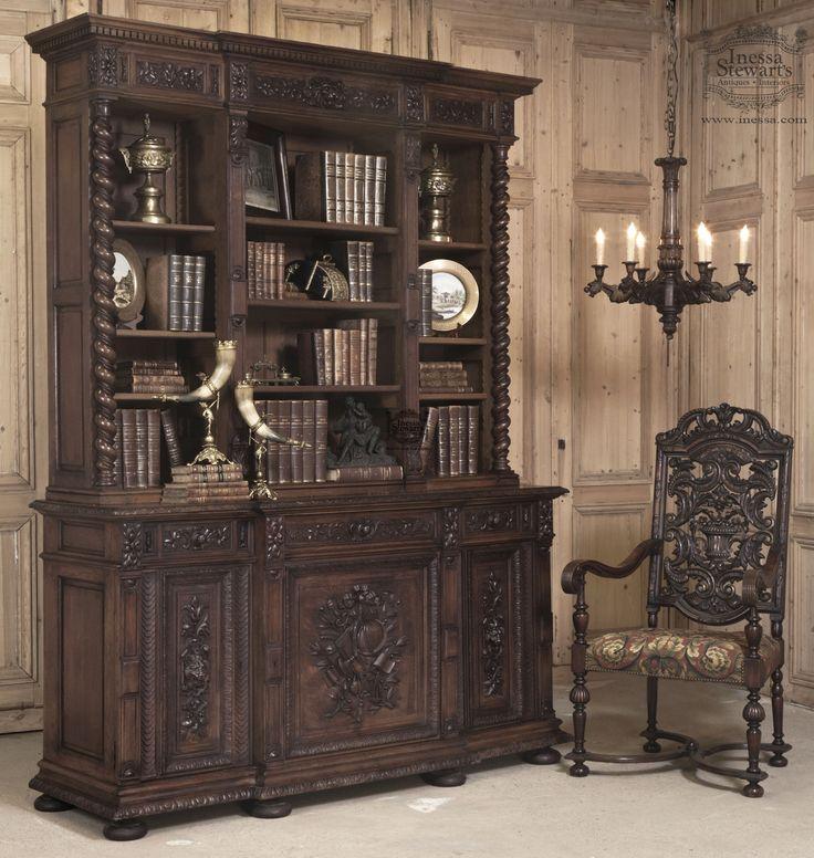 Inkwell Desk Wood Antique