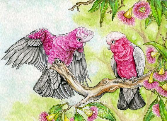 Watercolor Birds Whimsical
