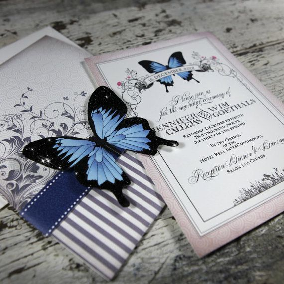 Laser Cut Butterfly Invitations