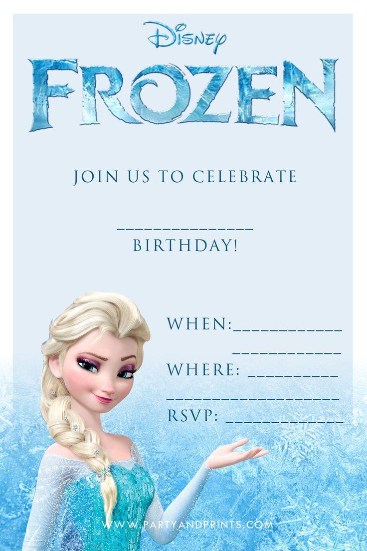 Printable Olaf Invitations