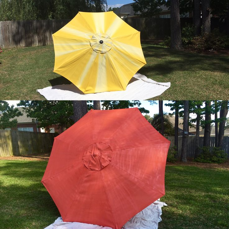 Rustoleum Spray Paint Coral Patio Umbrella Diy Updated