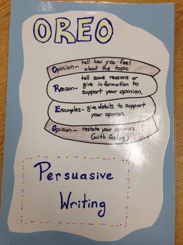 Opinion Oreo Writing Anchor Chart