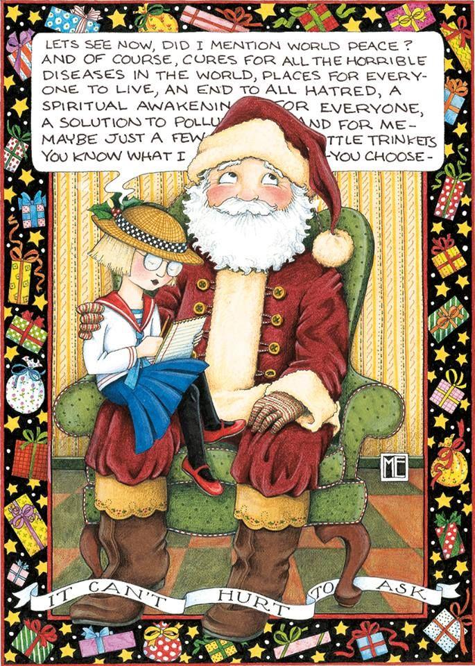 Mary Engelbreit Christmas Card Quotes