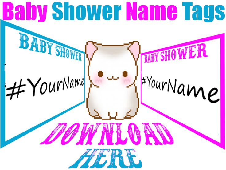 Printable Baby Shower Name Tags Are Now Available For Free