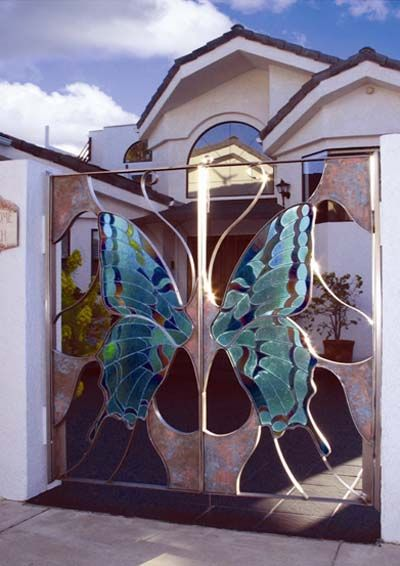 41 Best Images About Stained Glass Fences Amp Gates On Pinterest
