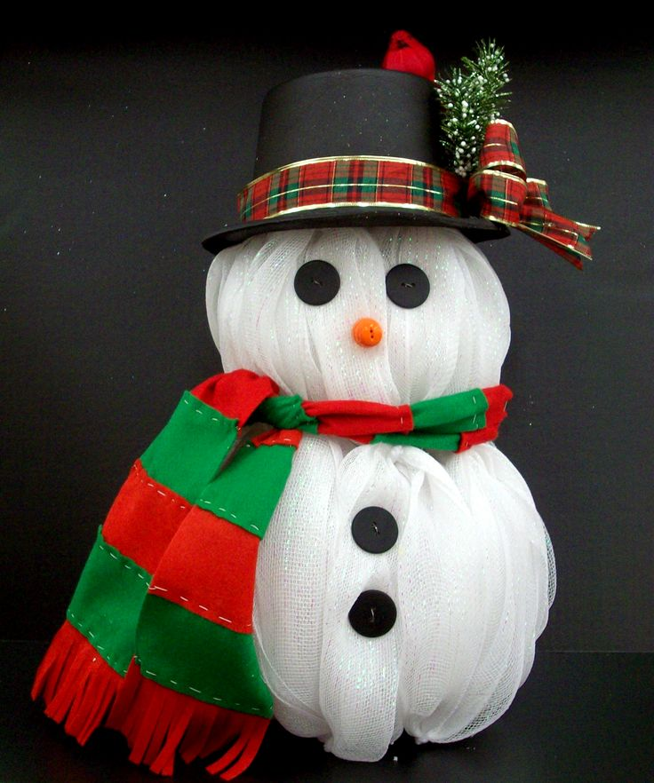 Wreath Deco Kit Snowman Mesh