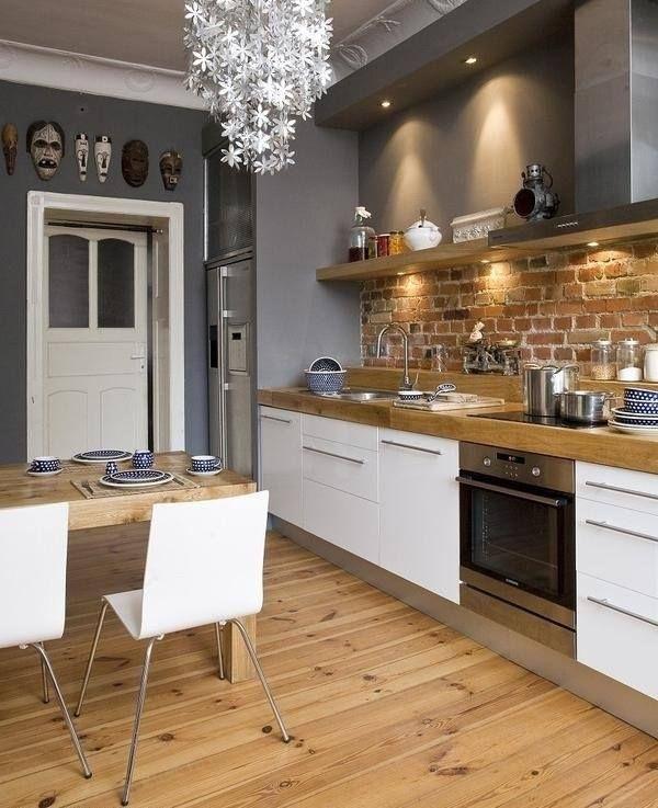White Kitchen Units Grey Walls