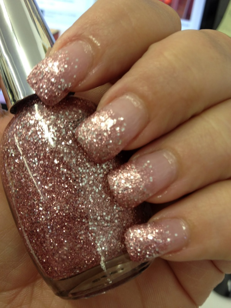 Faded Glitter Ombre Nails