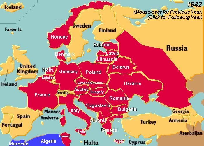 World War 2 Map Europe 1941