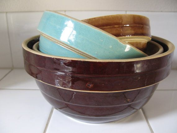 Mixing Serving Bowls White Pottery