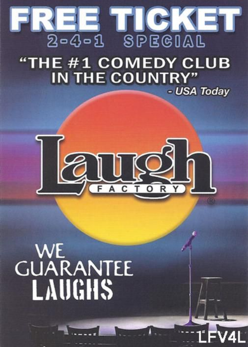 Promotion Code Laugh Factory Hollywood