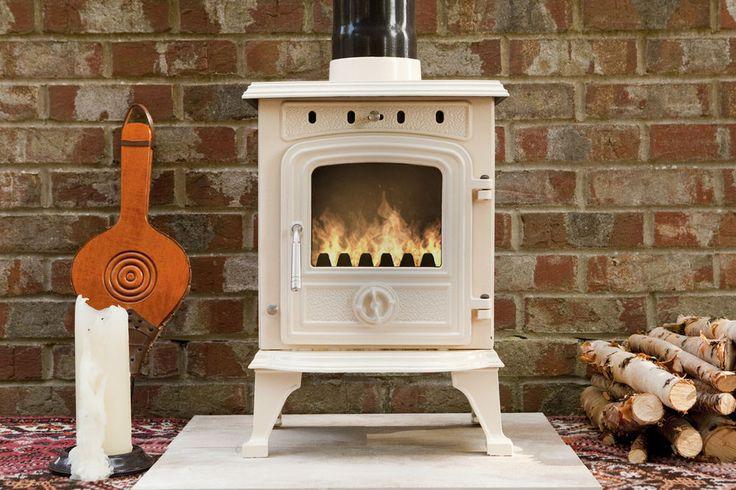4 5 Kw Wood Burning Cast Iron Enamel Woodburning Stove