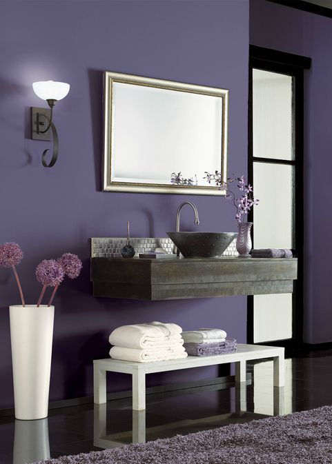 Bold Behr Hyacinth Arbor Purple Adds A Dramatic Base To