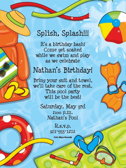 Pre Printed Party Invitations