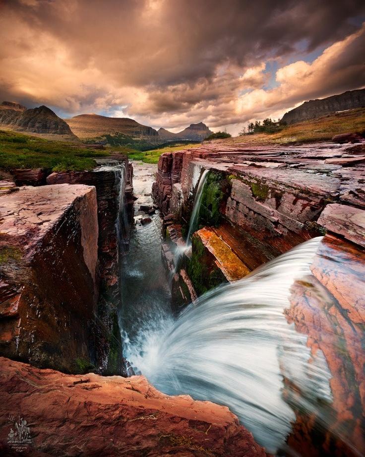 Triple Park Falls National Montana Glacier