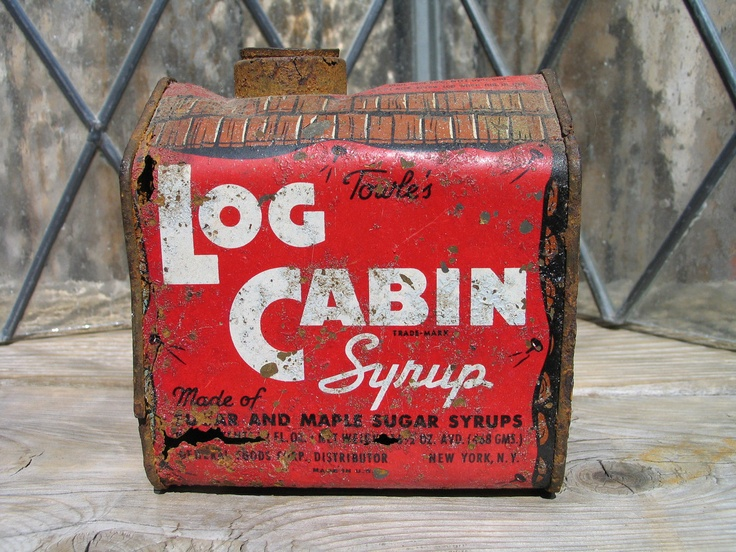 Vintage Towle S Log Cabin Syrup Tin General Foods Corp 30