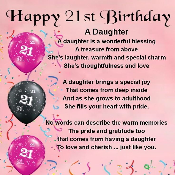 Happy 21st Birthday Wishes to Daughter | PARTY IDEAS ...