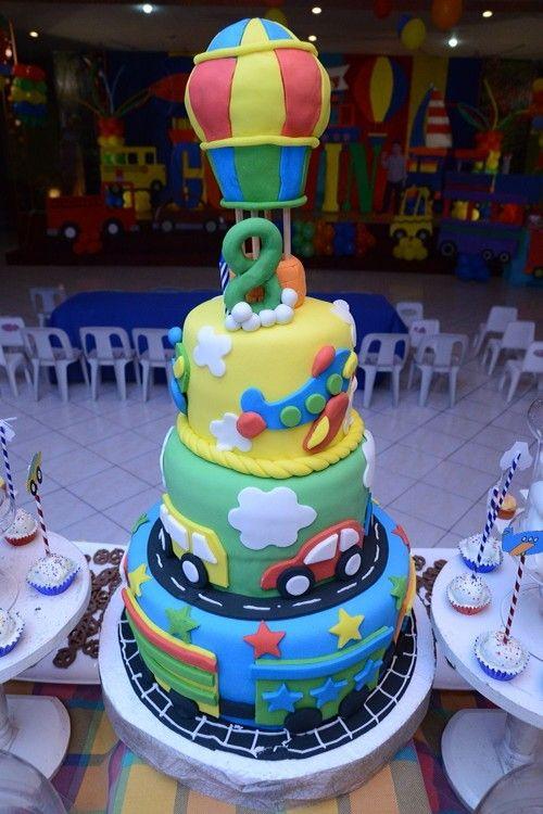Transportation Birthday Cake Transportation Theme