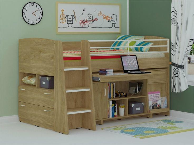 Tt Midi Sleeper Cabin Beds With Oak Finish Cabin Bed