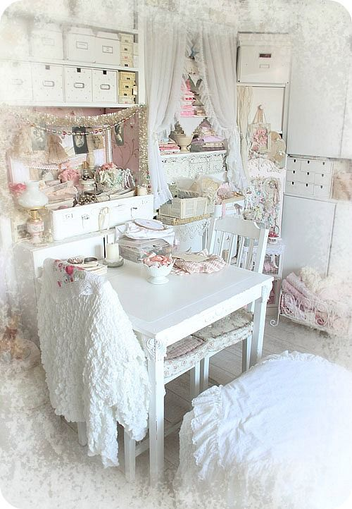 1000 Images About Shabby Chic Sewing Room Craft Room On