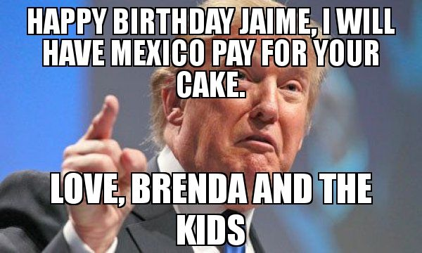 Happy Birthday Funny Political Memes