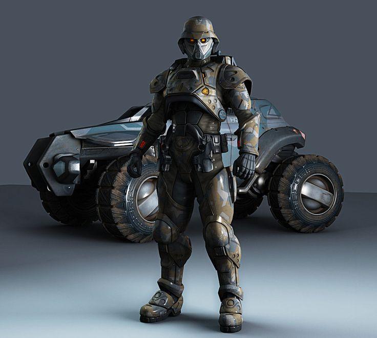 Helmet Armor Futuristic Military