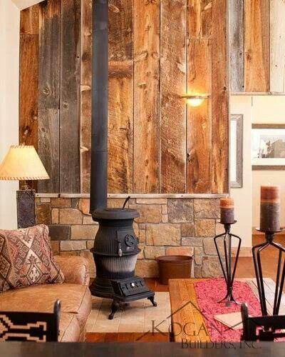 Burning Stove Wood Ideas Back Wall