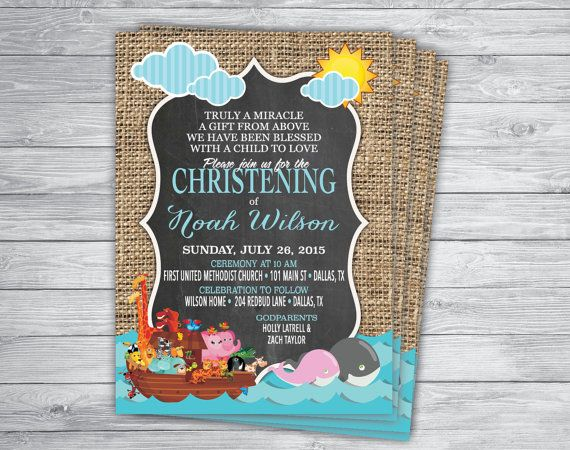 Cheap Personalised Christening Invitations
