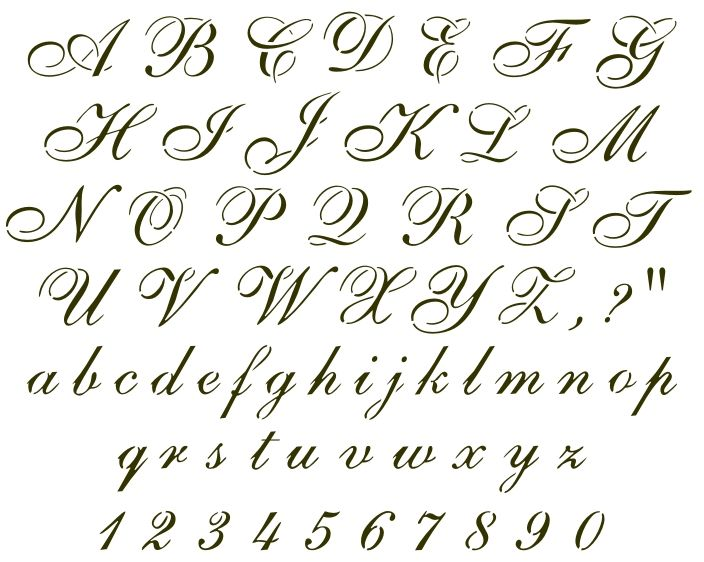 Old English Letters Tattoos Stencils