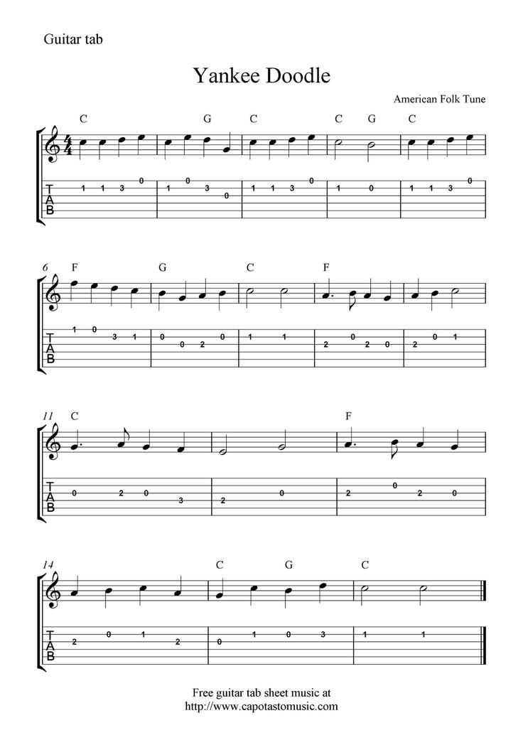 Sweet Home Alabama Guitar Lesson Tabs