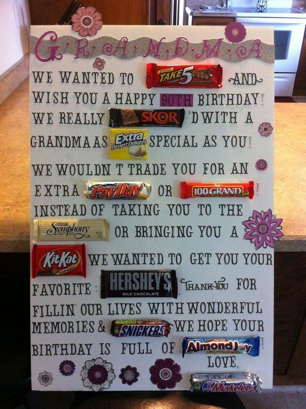 Candy Bar Poster Ideas With Clever Sayings Birthdays