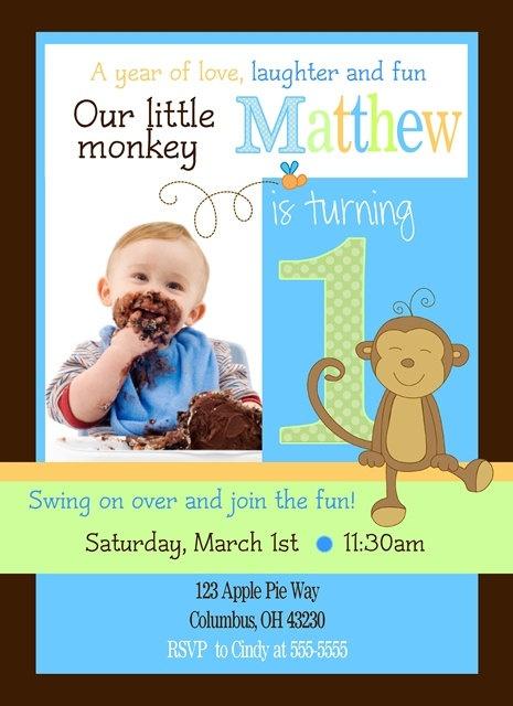Monkey Birthday Invitations