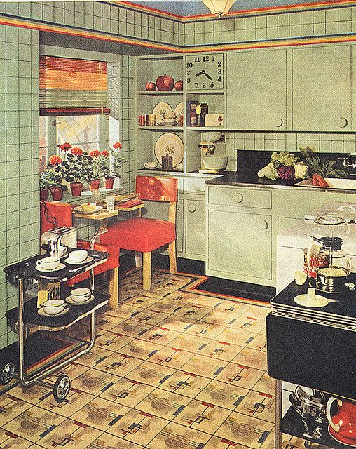 Modern Kitchen 1930s House
