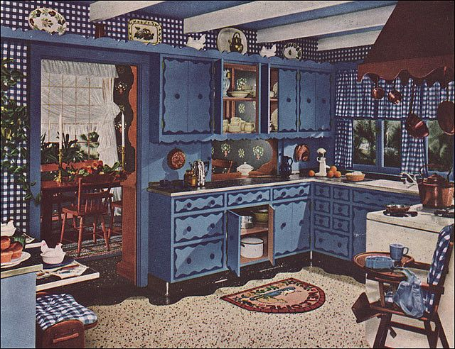 Country Blue Kitchen Decor