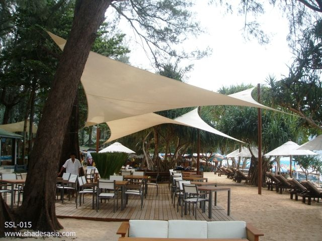 Shade Sails Perfect For Creating Outdoor Ambiance At