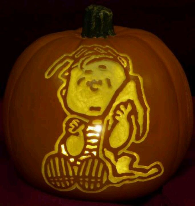 Charlie Brown Pumpkin Carving Patterns Templates