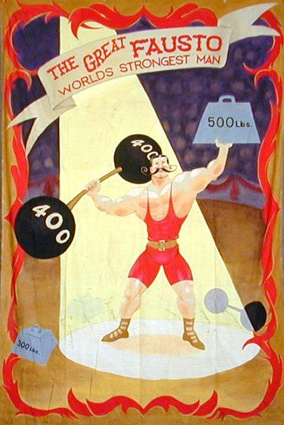 Strongest Man Circus Poster