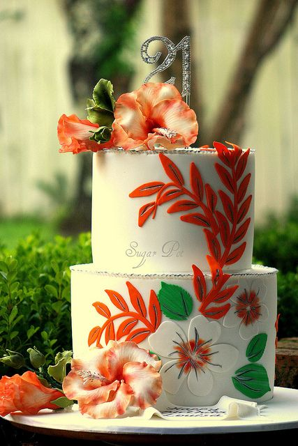 Hibiscus Flower Birthday Cakes