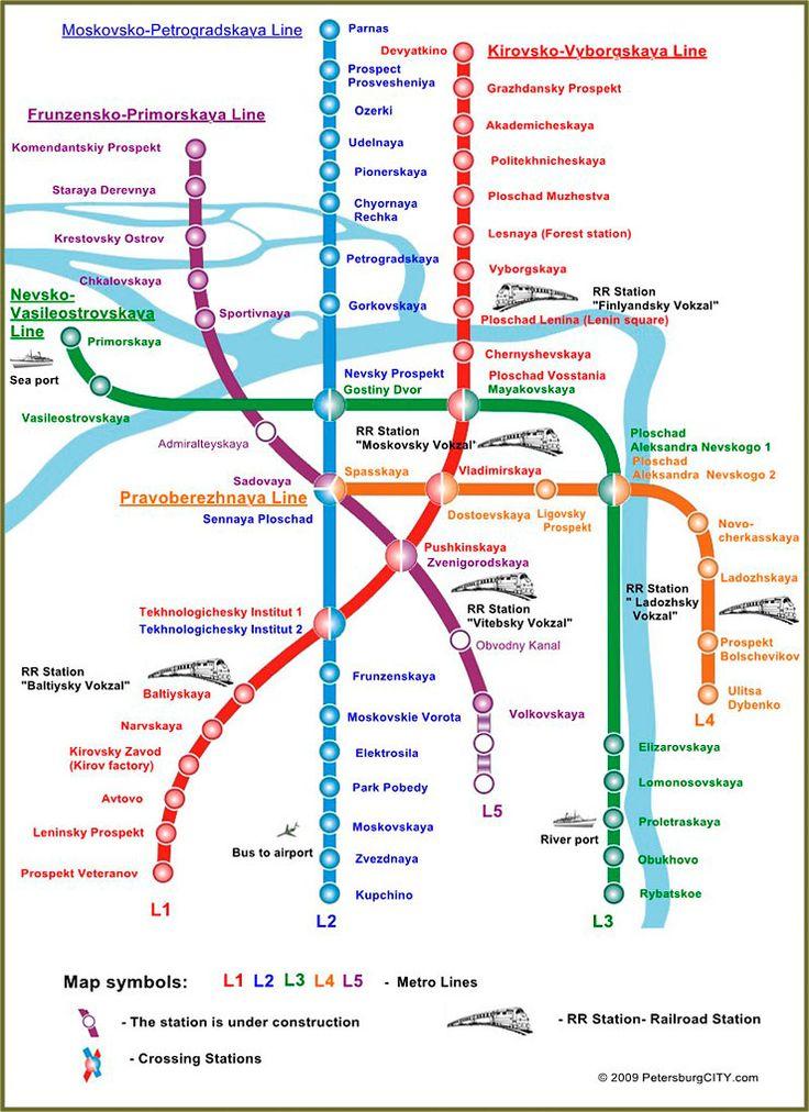 Petersburg St English Metro Russia 2017 Map
