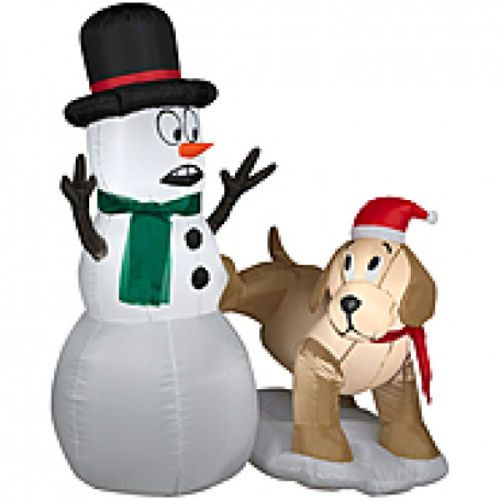 Inflatable Dog Christmas Decorations