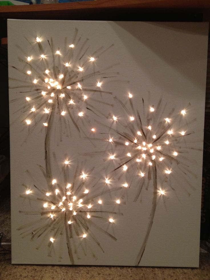 Flickering Light Canvas Christmas
