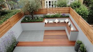 Outdoor Built In Seating Small Garden Urban Home