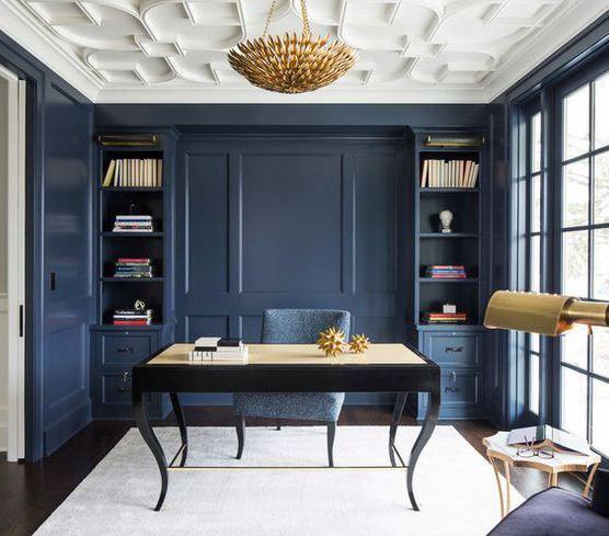 Navy Blue Living Room Decor