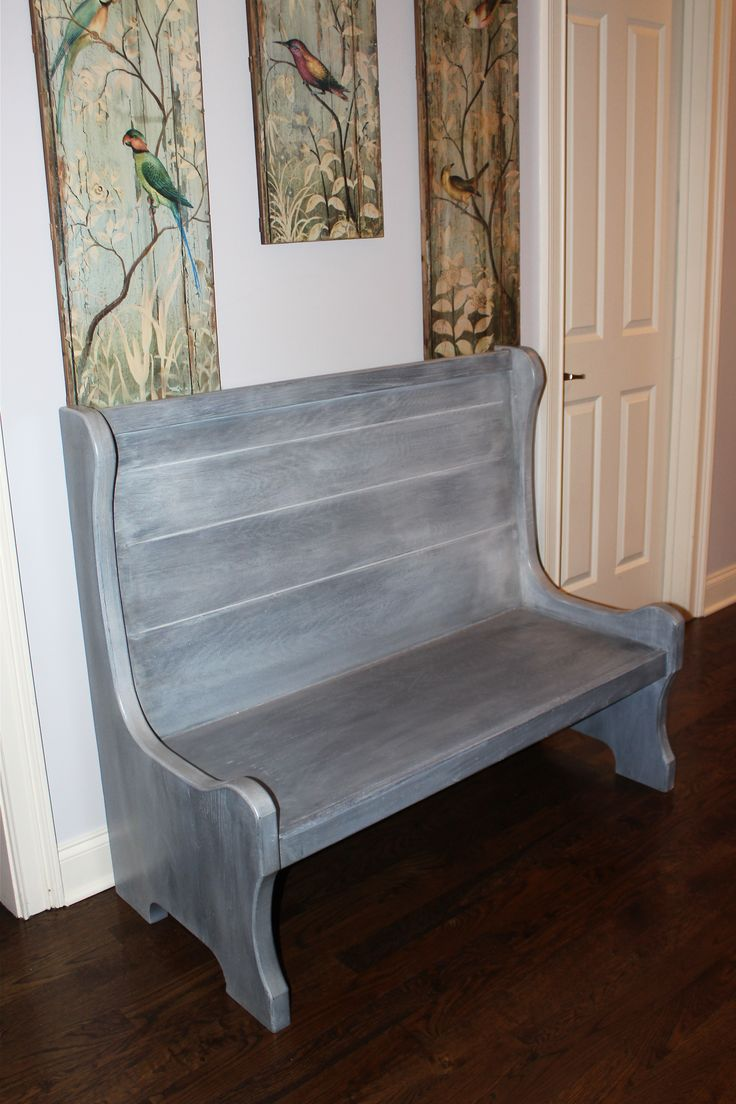 After Painting This Old Church Pew With General Finishes